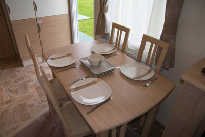 Dining area in the Focus