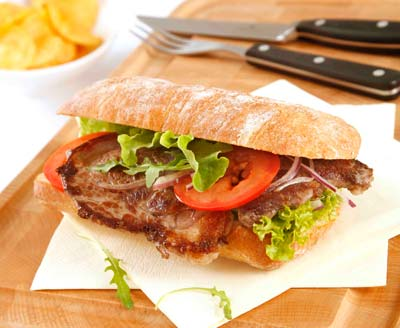 Ribeye steak sandwich