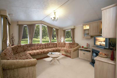 Lounge area in the Willerby Leven