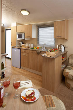 The kitchen in the Willerby Rio