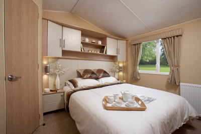 The main bedroom in the Willerby Signature