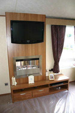 ABI St David fireplace and flatscreen TV