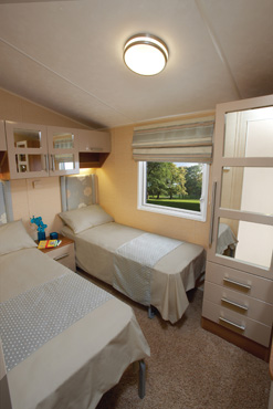 Willerby Aspen Scenic Twin Bedroom
