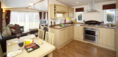 ABI Kentmere open plan kitchen and living area