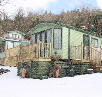holiday home in snow