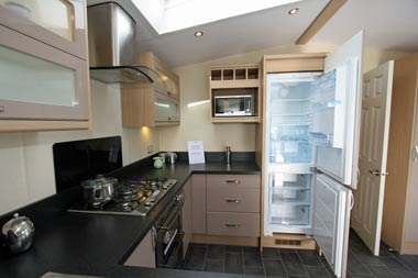 Kitchen with fridge freezer