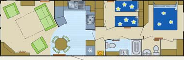 Carnaby Aspire Static Caravan Floor Plan