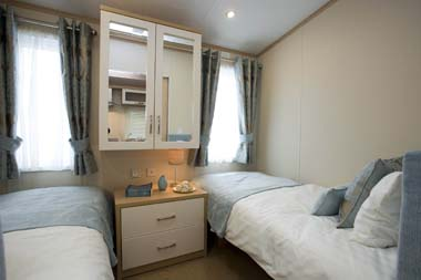 Pemberton Harmony Static Caravan Twin Bedroom