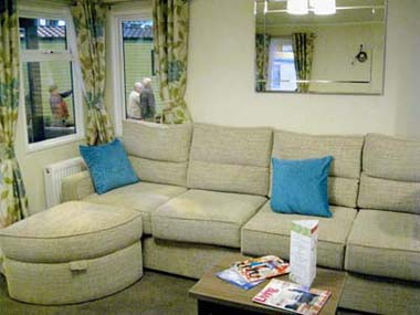 2013 Willerby Cameo lounge and seating area