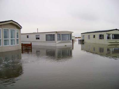 flooding at static caravan park