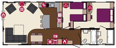 2013 Pemberton Arrondale holiday lodge floorplan