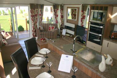 ABI The Lodge 2-bed open plan living area