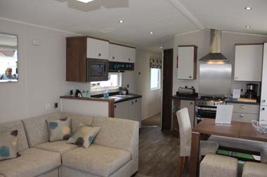 Willerby 2014 3-bed Skyline holiday home open-plan living