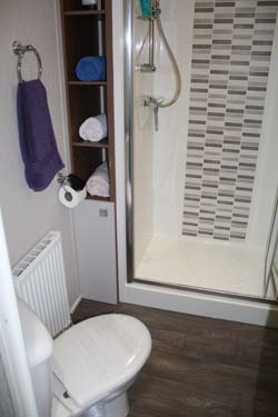 The Willerby 2014 3-bed Skyline holiday home shower room