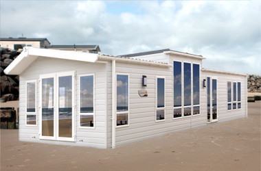 Willerby Linear - Exterior with Optional Outlook French Doors