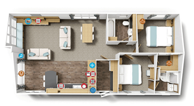 Willerby Pinehurst Lodge 40x20 floorplan