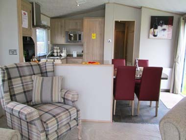 Carnaby Helmsley Kitchen from Lounge