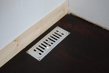 air vent in static caravan