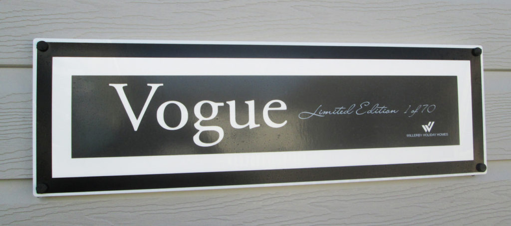 Willerby Vogue sign