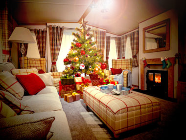 Festive season in a static caravan