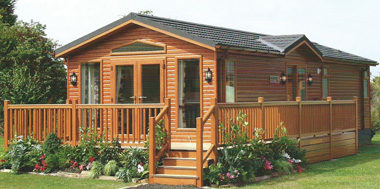 Caravan veranda and decking