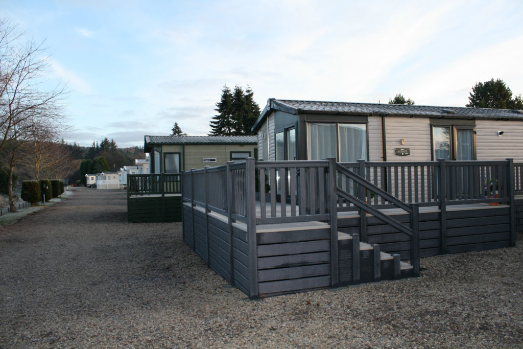 Scottish holiday caravan park
