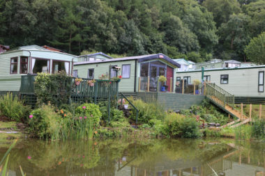 Holiday park with fishing