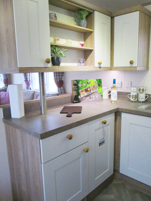 ABI St David static caravan Kitchen Cabinets