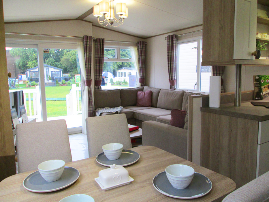 ABI St David static caravan Lounge & Patio Doors