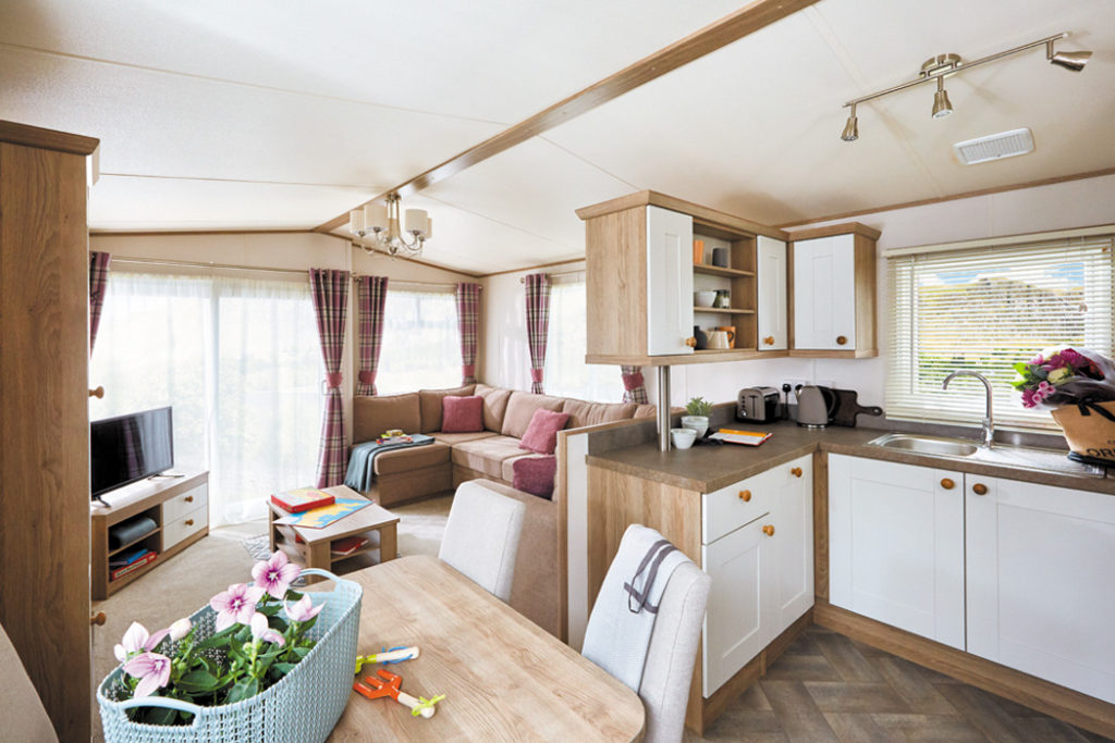 ABI St David static caravan Lounge from Kitchen