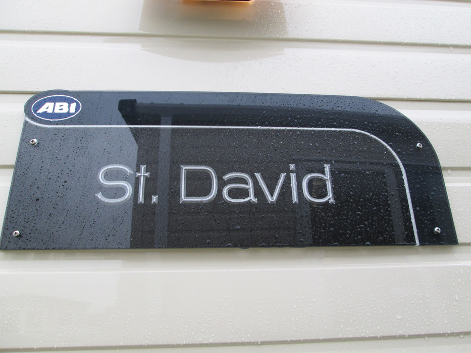 ABI St David static caravan Sign
