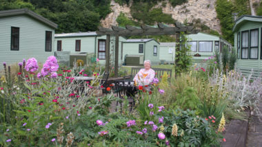 Caravan park _garden in bloom