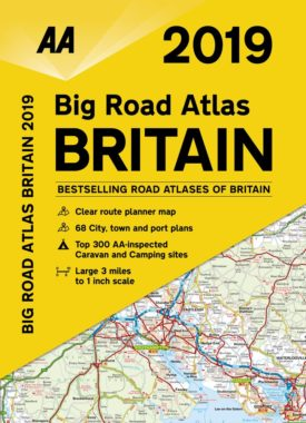 AA road atlas 2019 journey planner