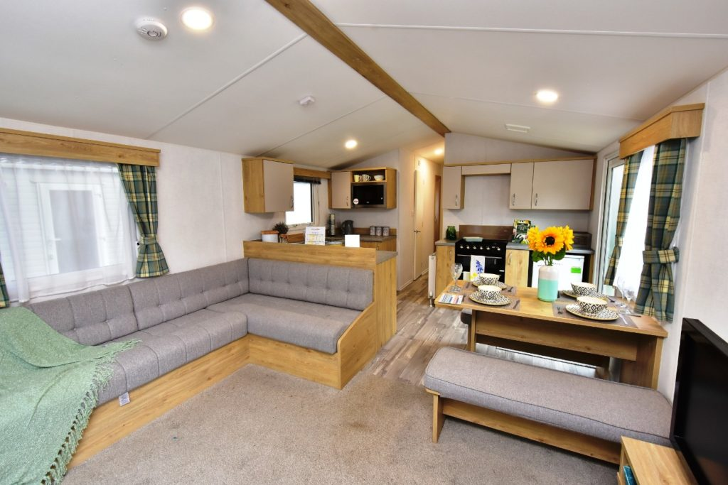 Atlas Mirage Static Caravan Lounge through to kitchen