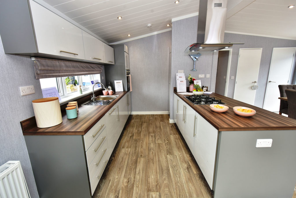 2019 Omar Alderney holiday lodge kitchen