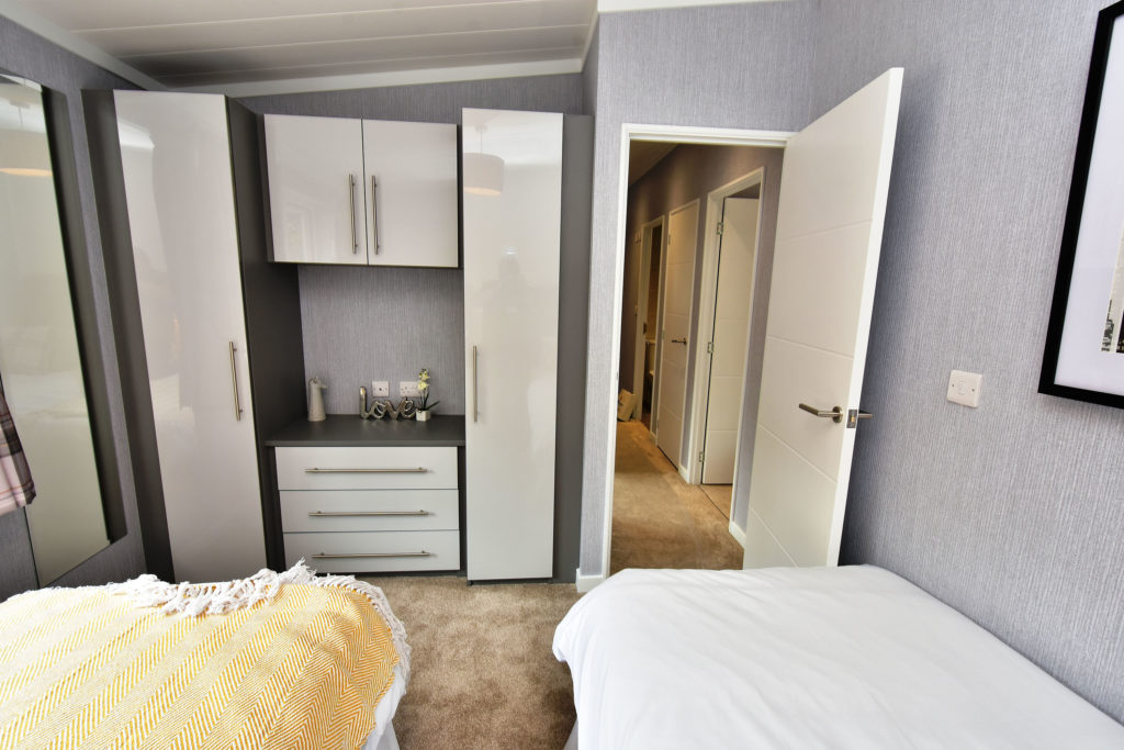 2019 Omar Alderney holiday lodge twin bedroom