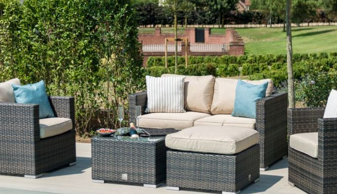 Maze rattan outdoor seating set