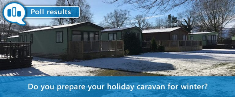 Holiday caravan in winter poll
