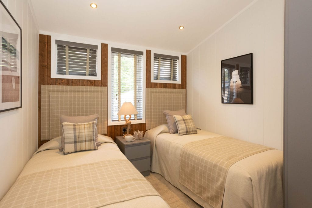 2020 Prestige Samphire lodge twin bedroom